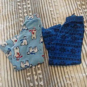 Boys size 8 fluffy pajama pants/bottoms